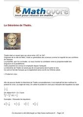 cours le theoreme de thales maths troisieme 31