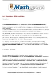cours les equations differentielles maths terminale 17