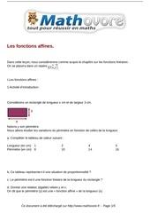 cours les fonctions affines maths troisieme 27