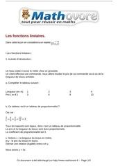 cours les fonctions lineaires maths troisieme 28