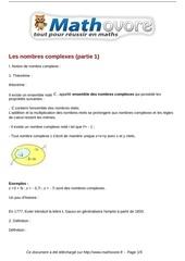 cours les nombres complexes partie 1 maths terminale 21