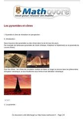 cours les pyramides et cones maths quatrieme 39