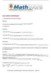 cours les suites numeriques maths terminale 19