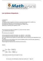 cours les systemes d equations maths troisieme 30