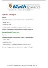 exercices activites artistiques maths cinquieme 1306