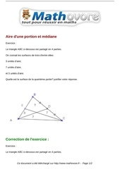 exercices aire d une portion et mediane maths cinquieme 1287