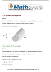 Fichier PDF exercices aire d une surface peinte maths cinquieme 1359