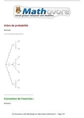exercices arbre de probabilite maths troisieme 1455