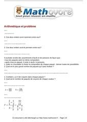 exercices arithmetique et probleme maths troisieme 533