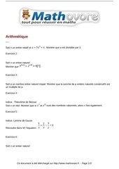 exercices arithmetique maths terminale 171