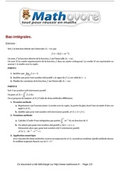 exercices bac integrales maths terminale 393