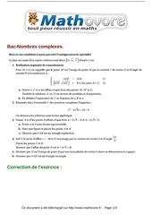 Fichier PDF exercices bac nombres complexes maths terminale 388