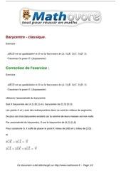 exercices barycentre classique maths premiere 92