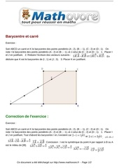 exercices barycentre et carre maths premiere 1094