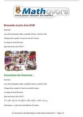 exercices brocante et prix d un dvd maths cinquieme 1250