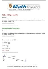 Fichier PDF exercices cable et trigonometrie maths troisieme 806