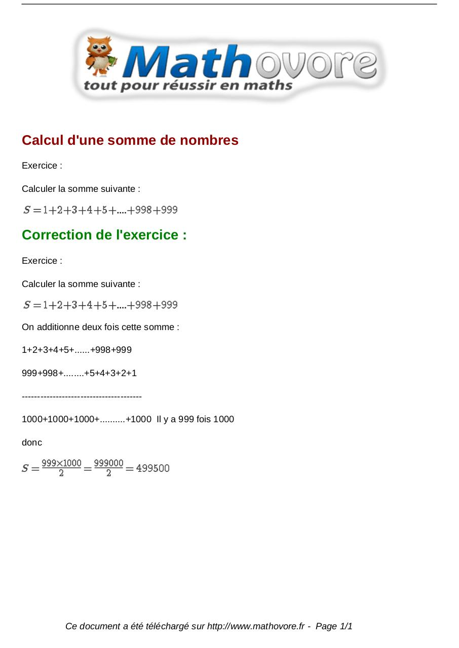 Aperçu du document exercices-calcul-d-une-somme-de-nombres-maths-premiere-1040.pdf - page 1/1