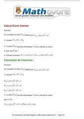 exercices calcul d une somme maths premiere 1037
