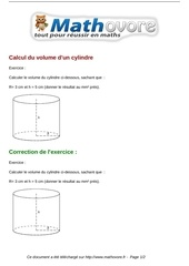 exercices calcul du volume d un cylindre maths troisieme 611