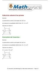 Fichier PDF exercices calcul du volume d un prisme maths cinquieme 1350