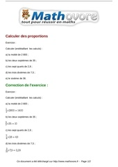 exercices calculer des proportions maths cinquieme 1318
