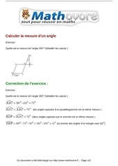 exercices calculer la mesure d un angle maths cinquieme 691