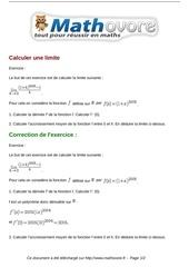 exercices calculer une limite maths premiere 1024