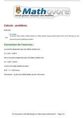 Fichier PDF exercices calculs probleme maths sixieme 265