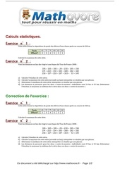 exercices calculs statistiques maths troisieme 352