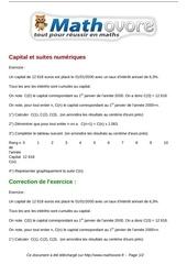 exercices capital et suites numeriques maths premiere 1399