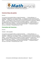 Fichier PDF exercices cercle et lieux de points maths premiere 1148
