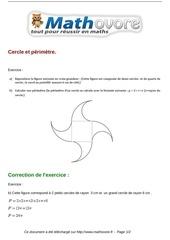 exercices cercle et perimetre maths sixieme 251