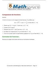 exercices comparaison de fonctions maths premiere 83