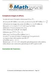 exercices complexes images et affixes maths terminale 380