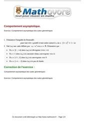 exercices comportement asymptotique maths terminale 182