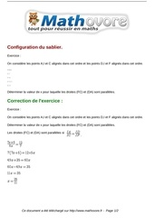 Fichier PDF exercices configuration du sablier maths troisieme 785