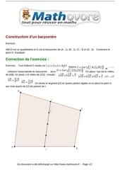 exercices construction d un barycentre maths premiere 1078