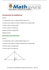 Fichier PDF exercices construction de mediatrices maths sixieme 1226