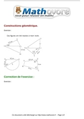 Fichier PDF exercices constructions geometrique maths sixieme 260