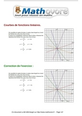 Fichier PDF exercices courbes de fonctions lineaires maths troisieme 342
