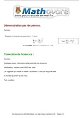 Fichier PDF exercices demonstration par recurrence maths terminale 59