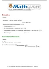 Fichier PDF exercices derivation maths terminale 78
