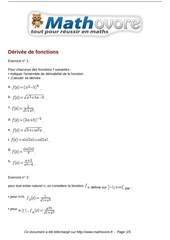 exercices derivee de fonctions maths terminale 535