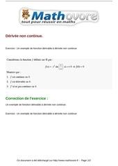 exercices derivee non continue maths terminale 188