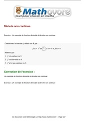 Fichier PDF exercices derivee non continue maths terminale 188