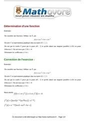 Fichier PDF exercices determination d une fonction maths terminale 65