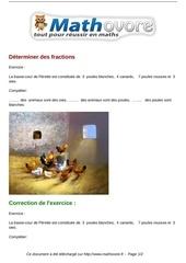 Fichier PDF exercices determiner des fractions maths cinquieme 1314