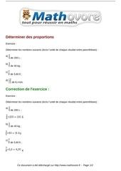 exercices determiner des proportions maths cinquieme 1317