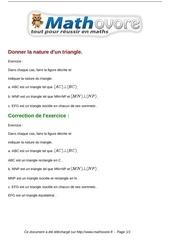 exercices donner la nature d un triangle maths sixieme 702