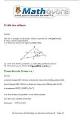 exercices droite des milieux maths quatrieme 234